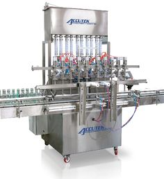 Liquid Filling machines by Accutek Packaging utilize high- end and  latest technologies in order to achieve highest speeds. These machines are perfect for free flowing liquid products, products that are very viscous or thick, products that tend to foam, products that string or drip and so on!