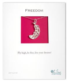 f05f8e2e7 Silver Freedom Feather Necklace - Lily Charmed - Jewellery with Meaning www. lilycharmed.com