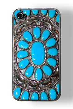 Amazingly beautiful turquoise and silver iphone case. I wish I still had my iphone! Iphone 5 Case, Best Iphone, Phone Cases, Iphone Phone, Cover Iphone, Cellphone Case, Bling Bling, Zeina, Hippie Chick
