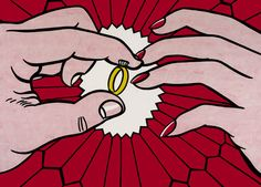 "Roy Lichtenstein - ""The Engagement Ring"" 1962 (post war and contemporary art)"