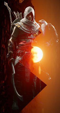 Bayek of Siwa Assassin's Creed Hd, All Assassin's Creed, Assassins Creed Series, Assassins Creed Origins, Dark Fantasy, Fantasy Art, Ezio, Assassin's Creed Brotherhood, Game Concept Art