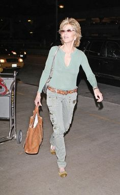 Jane Fonda Photos: Jane Fonda Arriving At LAX