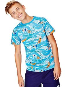Surfer Dudes T-shirt 81172 Logo T-Shirts at Boden