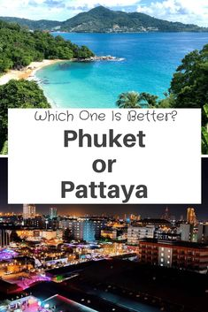 Phuket and #Pattaya are both well-known spots in Thailand. #Phuket is the largest #island in #Thailand and Pattaya is a #coastal city. Phuket is a busy resort island that tends to attract people who are looking to party, older travelers, and those traveling with the family. While Pattaya is a #beach resort town that tends to attract people who are looking to party. Let's explore this in more detail! Best Beaches In Phuket, Beach Resorts, Thailand Shopping, Thailand Travel, Thailand Destinations, Elephant Sanctuary, Pattaya Thailand, Travel Advise, Night Life