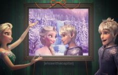 """""""Ta-Dah!"""" Elsa said. """"Wow!"""" Jack exclaimed. """"When did you take this?""""  """"Oh, ya know. I just asked Anna to snap it when we were talking."""" Elsa said with a giggle. """"Do you like it?"""" She asked.  """"Like it? I love it! It's the best birthday present ever!"""" He said. """"Thank you."""" He said as he hugged her."""