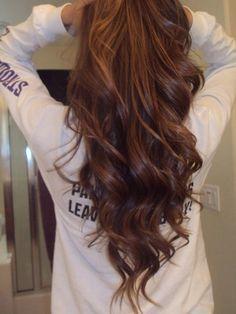 soft curls, long hair