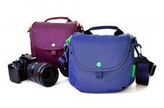 Camera Day Pack: fits the necessities for shooting, plus enough room for my wallet, phone, etc. Plus: purple! $60.00