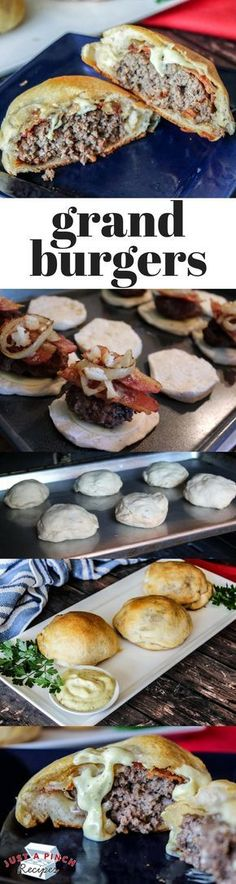 Flaky Grand Biscuits Burgers