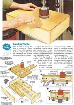 Drill Press Drum Sander Table Plan - Sanding Tips, Jigs and Techniques | WoodArchivist.com