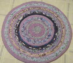 Rag Rug by QuiltingMyWay on Etsy, $35.00