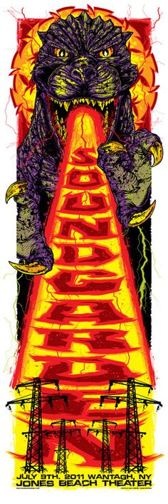 Soundgarden poster by Rhys Cooper Omg Posters, Band Posters, Music Posters, Stoner Rock, Concert Flyer, Concert Posters, Rhys Cooper, Cartoon Meme, Skateboard Design