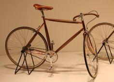 Tortona district - wood and copper bike