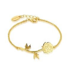 Buy Disney Beauty and the Beast Rose Bracelet at Mighty Ape NZ. Disney Beauty and the Beast Rose Bracelet Enchantment awaits you with this dainty and delicate rose bracelet. Beauty And Beast Rose, Beauty And Beast Birthday, Beauty And The Beast Theme, Disney Beauty And The Beast, Couture Disney, Disney Couture Jewelry, Disney Jewelry, Alphonse Mucha, Thin Wedding Bands
