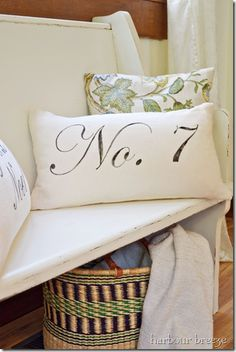 Learn how to make pillows out of flour sack towels. See a variety of design options for farmhouse style pillows. How To Make Pillows, Diy Pillows, Throw Pillows, Cushions, Flour Sack Towels, Flour Sacks, Towel Crafts, Dish Towels, Tea Towels