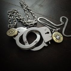 Bullet Jewelry by JECTZ® - Locked Up His and Hers Bullet Necklace, $59.95 (http://www.jectz.com/locked-up-his-and-hers-bullet-necklace/)