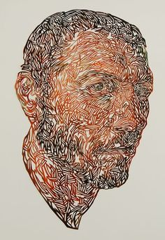 Kuin Heuff / cut (she first paints portraits on paper then cuts it into lace-like structure).