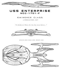 The last know Enterprise to canonically exist. I say canon very loosely, because we only have one real image of the E-J, and it shows the dorsal view fairly planametrically so the front and side, i...