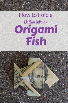 Find more information on Step by Step Origami Fin. Find more information on Step by Step Origami Easy Money Origami, Origami Fish Easy, Money Origami Tutorial, Useful Origami, Origami Design, Origami Art, Origami Bookmark, Origami Flowers, Origami Boxes