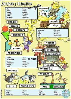 Spanish English, English Study, English Class, English Words, English Lessons, Learn English, Spanish Vocabulary, Grammar And Vocabulary, Spanish Language Learning