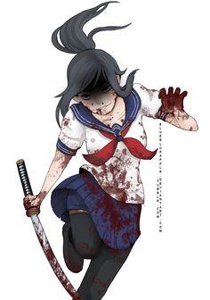 .:FANART:. Ayano Aishi by BlueBlurApple.deviantart.com on @DeviantArt