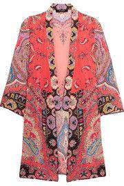 Etro - Printed silk crepe de chine jacket