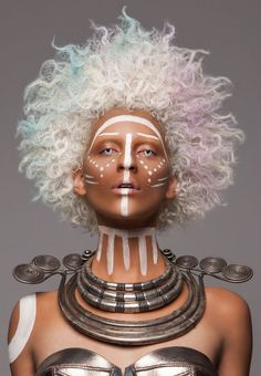 FASHION British Hair Awards 2016 – Afro Finalist Collection – photo by Luke Nugent