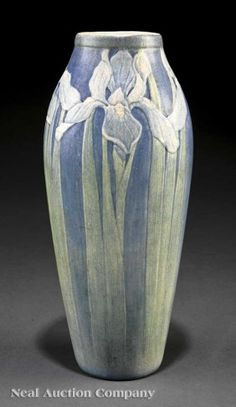 A Newcomb College Art Pottery Matte Glaze Vase, 1915, decorated by Cynthia Pugh Littlejohn