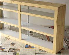 estante de ferro mais madeira pinus