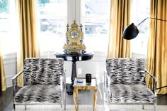 AMERICAN DREAM BUILDERS - VICTORIAN - AFTER - My living room - mix of gold and gray with traditional antiques, mid century modern and 1970's - CHIC - AMERICAN DREAM BUILDERS ON NBC HOSTED BY NATE BERKUS - by Lukas Machnik check out our new transformation #Victorian home this Sunday 8/7c on NBC #DreamBuilders #LukasMachnik #NateBerkus www.LukasMachnik.com