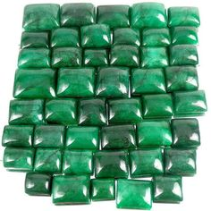 1100CT NATURAL BRAZILIAN RICH GREEN EMERALD WHOLESALE LOT~RING SIZE 15-27mm Gems