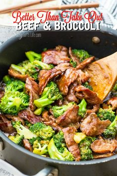 Better Than Take Out Beef and Broccoli, tender flank steak marinated and seared at a high temp, mixed with broccoli in a thick soy based gravy, like your favorite take out, but better! - ThisSillyGirlsLif... #BeefandBroccoli #TakeOut #Copycat
