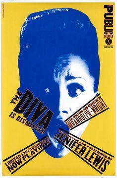 Paula Scher • The Diva is Dismissed. 1994
