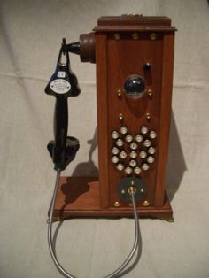 The homemade steampunk telephone build from an old handy and many other things