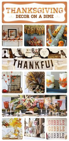 Thanksgiving decoration ideas an crafts  Set the perfect table, make a welcoming wreath  #thanksgiving #holidays #diy