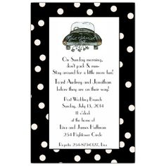 Cobblestone Country Wedding Brunch Invitations