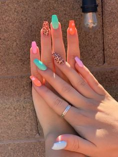 Acrylic Nails Coffin Short, Square Acrylic Nails, Simple Acrylic Nails, Summer Acrylic Nails, Best Acrylic Nails, Simple Nails, Acrylic Nail Designs, Summer Nails, Stylish Nails
