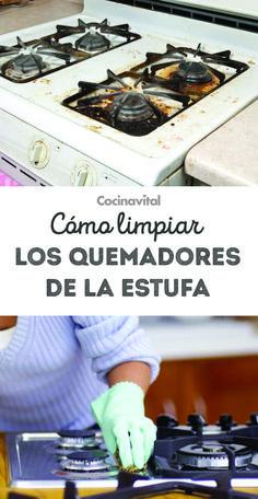 Limpia los quemadores de la estufa con este sencillo truco - Como limpiar los cristales para que queden perfectos ...