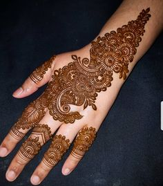 Kashee's Mehndi Designs, Indian Henna Designs, Simple Arabic Mehndi Designs, Mehndi Designs For Girls, Mehndi Design Pictures, Mehndi Designs For Fingers, Beautiful Henna Designs, Henna Tattoo Designs, Simple Henna