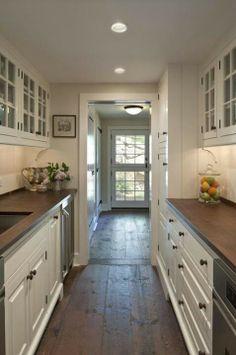 Elegant Small Narrow Kitchen Remodel