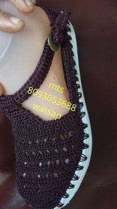 Crochet Sandals, Crochet Socks, Knit Crochet, Slipper Socks, Slippers, Sewing Pockets, Creative Shoes, Socks And Sandals, Huaraches