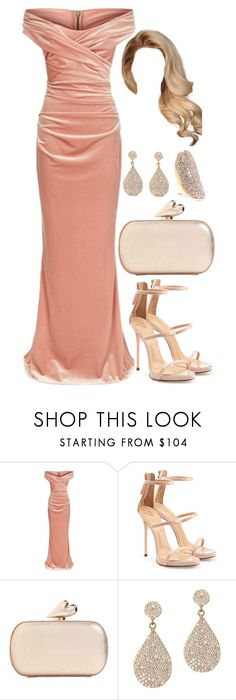 """Untitled #4482"" by natalyasidunova ❤ liked on Polyvore featuring Talbot Runhof, Giuseppe Zanotti, Diane Von Furstenberg and Vince Camuto"