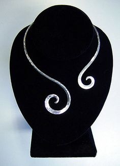 Sterling+Silver+Collar+Choker+by+Sozra+on+Etsy