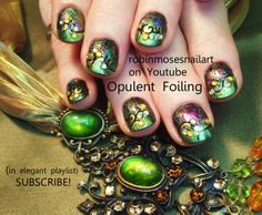 Nail-art by Robin Moses BLACK OPAL  http://www.youtube.com/watch?v=4LocIx9ISpE