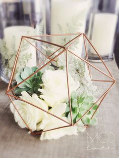 Sharp regulated wedding centerpieces inspo learn this here now Geometric Wedding, Floral Wedding, Diy Wedding, Rustic Wedding, Wedding Flowers, Dream Wedding, Geometric Decor, Wedding Favours, Wedding Ideas