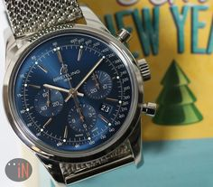 """""""Another New Year Surprise!"""" #Breitling 43mm Transocean Chronograph LTD ED, 2013 Ref#: AB015112/C860/154A * SOLD!!!  EMAIL or CALL for INQUIRIES! http://www.elementintime.com/Breitling-Transocean-Chronograph-AB015112C860154A-Stainless-Steel-Blue-Dial-Used"""