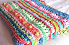 Gorgeous crocheted blanket. Just brilliant.