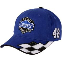 NASCAR Checkered Flag Jimmie Johnson Lowe's Racing Checkered Adjustable Hat - Royal Blue by Football Fanatics. $21.95. Checkered Flag Jimmie Johnson Lowe's Racing Checkered Adjustable Hat - Royal BlueAdjustable hook and loop fastener strapQuality embroideryStructured fitImportedOfficially licensed Jimmie Johnson capStructured fitAdjustable hook and loop fastener strapQuality embroideryImportedOfficially licensed Jimmie Johnson cap