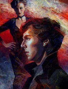 Sherlock and Irene by Olga-Tereshenko.deviantart.com on @deviantART