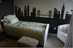 Skyline..would love to do a city theme for either a play room or boys room