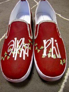alpha phi shoes! So cute!